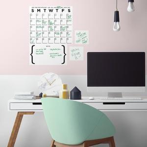 Dry Erase Calendar Peel and Stick Wall Decal Set