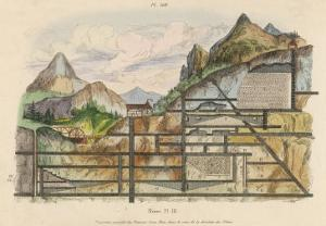 Cross-Section of a Coal Mine Showing All the Underground Chambers and Tunnels by Du Casse