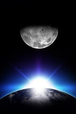 Sunrise and Moon by duallogic