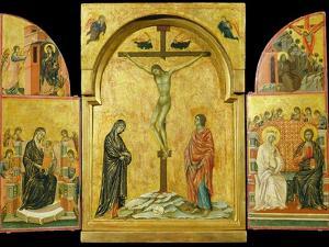 Crucifixion Altarpiece by Duccio di Buoninsegna