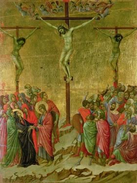 Crucifixion by Duccio di Buoninsegna