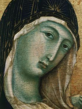 Face of Virgin Mary, from Madonna with Child altarpiece, Convent of San Domenico by Duccio di Buoninsegna