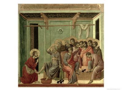 Maesta: Christ Washing the Disciples' Feet, c.1308-11