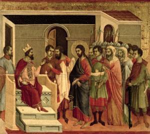Maesta: Jesus Before Herod, 1308-11 by Duccio di Buoninsegna