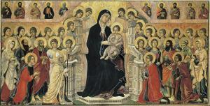 Maestà (Madonna with Angels and Saints) by Duccio di Buoninsegna