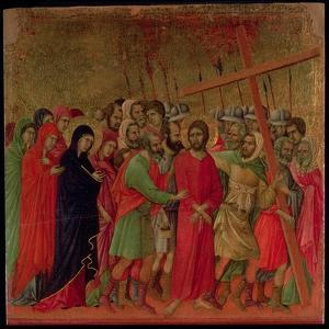 Maesta: the Road to Calvary, 1308-11 by Duccio di Buoninsegna