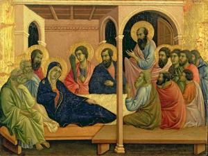 Maesta: The Virgin Taking Leave of the Disciples, 1308-11 by Duccio di Buoninsegna