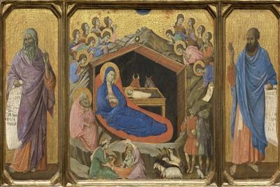 Nativity with the Prophets Isaiah and Ezekiel