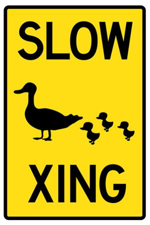 Duck Crossing Plastic Sign
