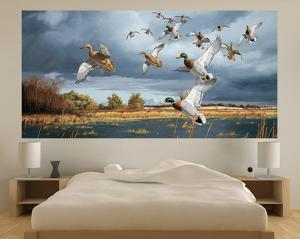 Ducks Flying (Indoor/Outdoor) Vinyl Wall Mural