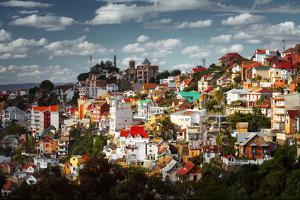 Buildings of a City of Antananarivo in Sunny Day. Madagascar by Dudarev Mikhail