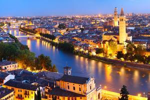 Night View of Verona City. Italy by Dudarev Mikhail