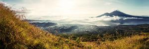 Panorama of Volcanoes at Sunrise. Bali, Indonesia by Dudarev Mikhail
