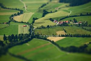 Small Bavarian Village in a Fields, Germany. Pseudo Tilt Shift Effect by Dudarev Mikhail