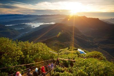 Valley View with Villages and Mountains at Sunrise. View from Adam's Peak, Sri Lanka by Dudarev Mikhail