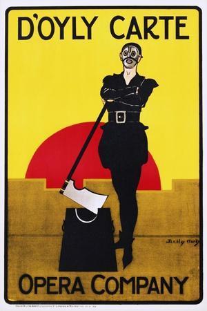 D'Oyly Carte Opera Company Poster