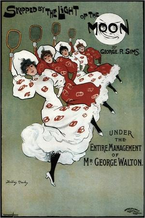 Poster for the George Sims Comedy Skipped by the Light of the Moon, 1896