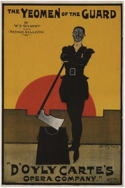 Poster for the Oper the Yeomen of the Guard by Gilbert and Sullivan, 1897 by Dudley Hardy