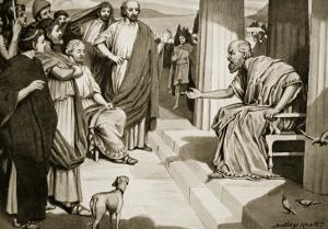 Socrates Addressing the Athenians, Illustration from 'Hutchinson's History of the Nations', 1915 by Dudley Heath