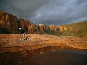 A Biker Cycles Across the Desert by Dugald Bremner