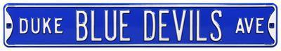 Duke Blue Devils Ave Steel Sign