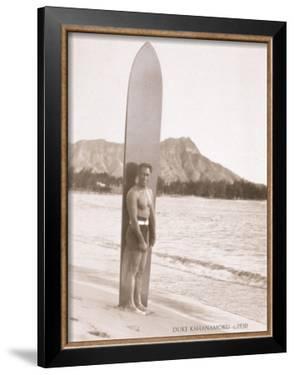 Duke with Surfboard