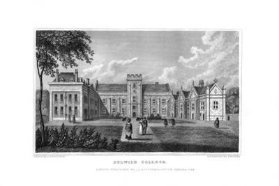 Dulwich College, London, 1829 by J Rogers