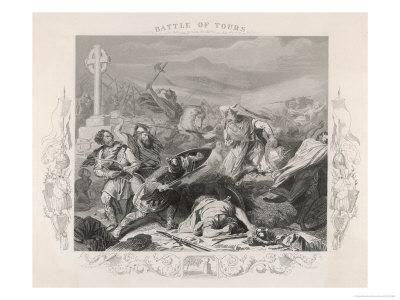 Charles Martel Halts the Advance of the Saracen Forces at the Battle of Tours