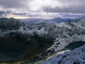 Snowdon Mountain and Surrounding Ridges, Snowdonia National Park, Gwynedd, Wales, UK, Europe by Duncan Maxwell