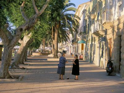 Via Cavour, Street Facing the Harbour, Carloforte, Southwest Area, Island of Sardinia, Italy