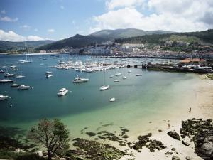 View of Beach, Harbour and Town, Bayona, Galicia, Spain by Duncan Maxwell