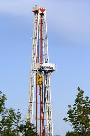 An Oil-rig Drilling Derrick