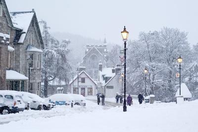 Heavy Snowfall, Braemar, Scotland