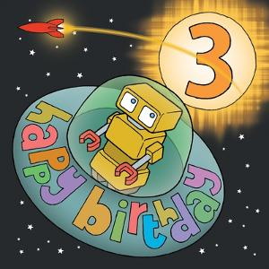 Three Birthday Saucer by Duncan Wilson