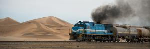 Dunes and Train, Walvis Bay, Namibia