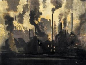 Duquesne Steel Factories at Night, Pittsburgh, Pennsylvania, c.1900