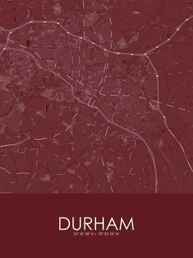Durham, United States of America Red Map