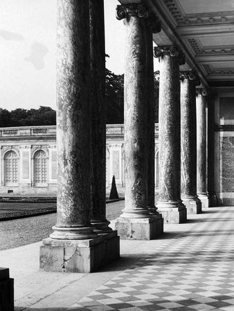 Portico of the Palace of the Grand Trianon in Versailles