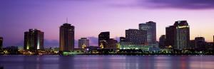 Dusk Skyline, New Orleans, Louisiana, USA