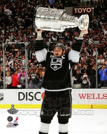 Dustin Brown with the Stanley Cup Trophy after Winning Game 6 of the 2012 Stanley Cup Finals