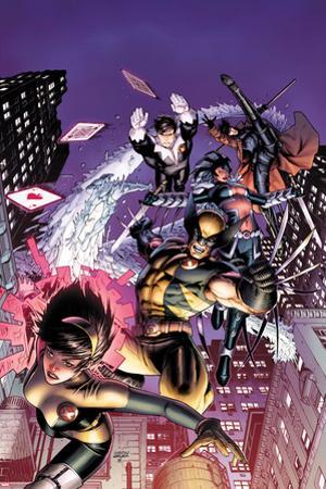 Astonishing X-Men No.48 Cover: Karma, Wolverine, Iceman, Northstar, Gambit, and Warbird