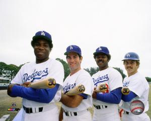 Dusty Baker , Steve Garvey, Reggie Smith, & Ron Cey 30 Home Run Club 1977