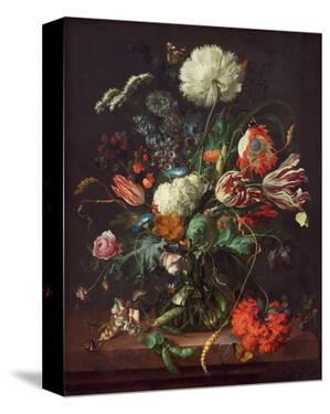 Jan Davidsz de Heem, Vase of Flowers by Dutch Florals