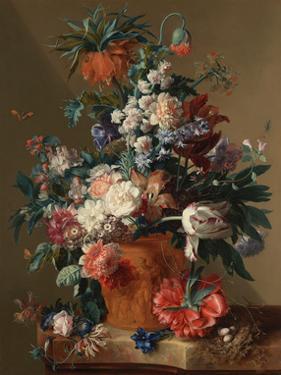 Jan van Huysum, Vase of Flowers by Dutch Florals