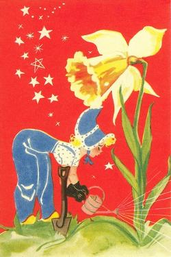 Dutch Girl Watering Daffodil