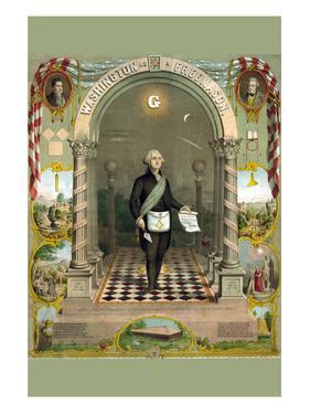 Symbols Masonic - Washington as a Master Mason by Duval