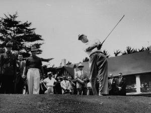 Dwight D. Eisenhower at Ottowa Hunt Club Playing Golf