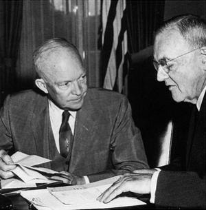 Dwight Eisenhower (With John Foster Dulles, 1956) Poster