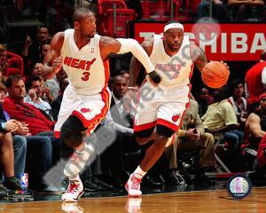 Dwyane Wade & LeBron James 2010-11 Action