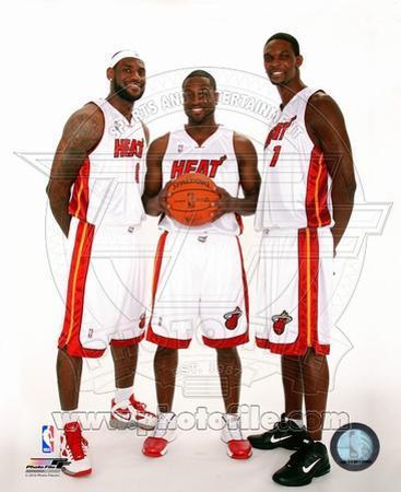 Dwyane Wade, LeBron James, &Chris Bosh 2010 Posed
